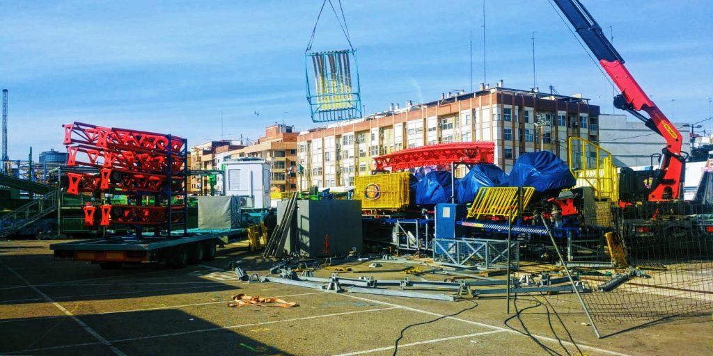 Desmontaje Feria Navidad Valencia 2020
